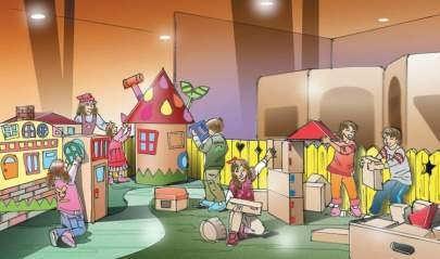 ↑ オリジナルの家やビルを創る『建築デザイン体験』