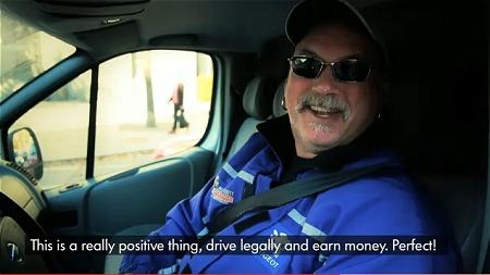↑ 「こりゃいいネ。スピード守って賞金稼げる。完璧だヨ」運転手たちもご満悦