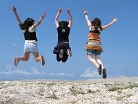 ジャンプの瞬間