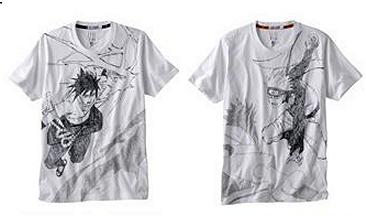 ↑ 「NARUTO -ナルト-」グラフィックTシャツ(一例)
