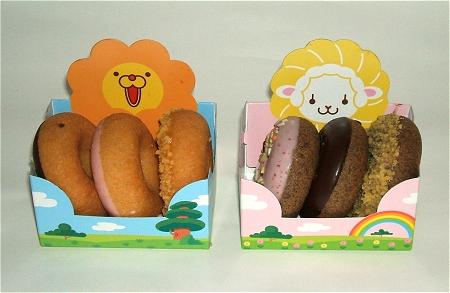 ↑ 左が「ミルク」(ポン・デ・ライオン)、右が「ミルクショコラ」(「フレンチウーラー)