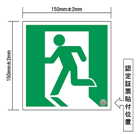 ↑ ステッカー式誘導標識