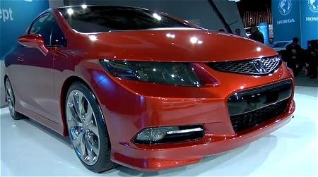 ↑ 2011 Honda Civic Si Concept。