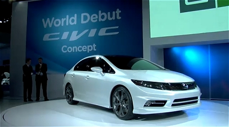 ↑ 2011 Honda Civic Sedan Concept。