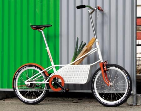 ↑ 収納かご付き自転車、bagbike
