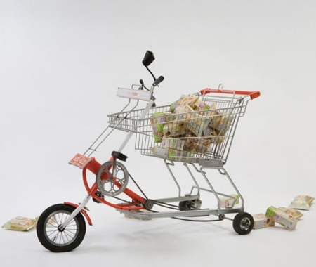 ↑ 買い物かご自転車