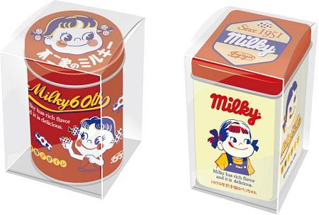 ↑  「ミルキー60周年記念缶」