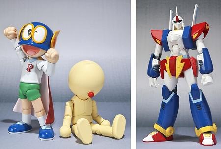 ↑ 左から『S.H.Figuarts パーマン1号』『ROBOT魂 コピーロボット(1号)』『ROBOT魂 ザンダクロス』