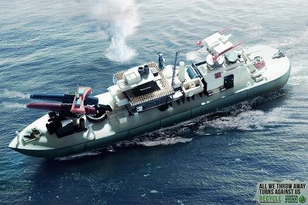 ↑ 戦車と軍艦。吸い殻の大きさを見ると、ゴミそのもののサイズに変化は無いという設定のようだ