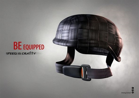 ↑ ヘルメットに着用させるパターン