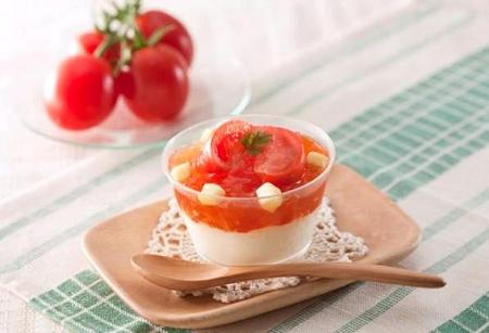 ↑ 「アメーラトマトとチーズのスイーツ」