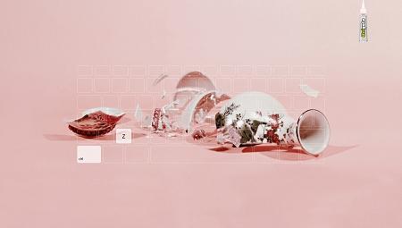 ↑ ピンクの花瓶