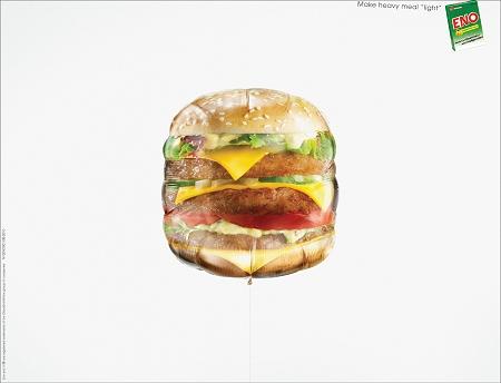 ↑ ぷくっと膨れたハンバーガー