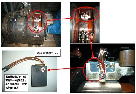 ↑ 直流電動機ブラシ(直流電動機カーボンブラシ)