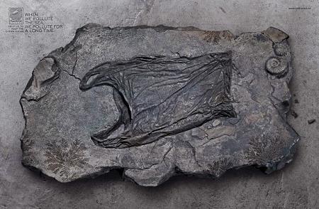 ↑ 買い物袋の化石