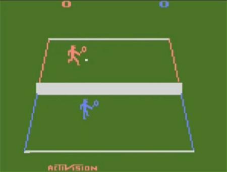 ↑ Atari2600のテニスゲーム。