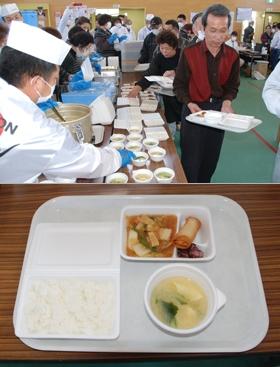 ↑ 4月16日に開催された「試食会でのメニュー」(実際に提供されるものとは異なる)