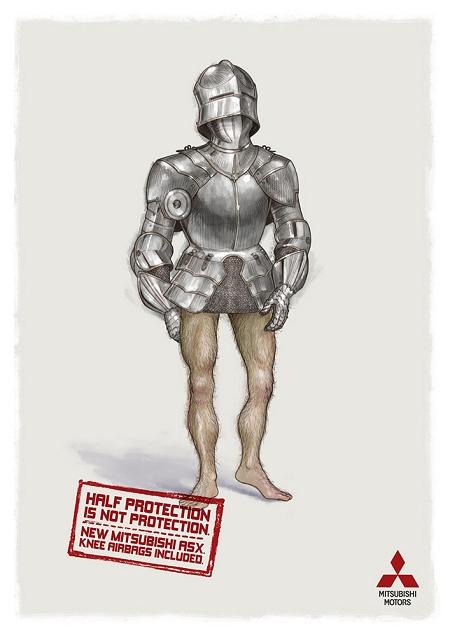 ↑ 騎士の甲冑(かっちゅう)だが、下半身部分が装備されていない
