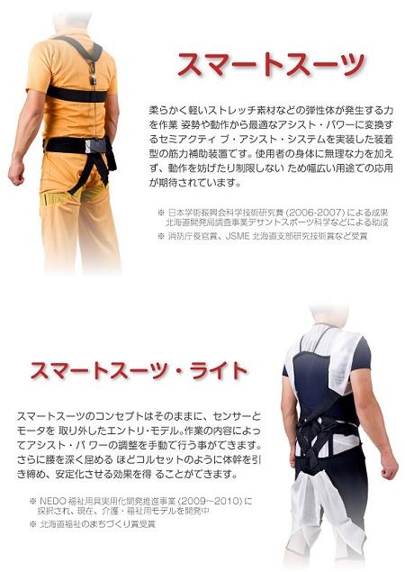 ↑ スマートスーツとスマートスーツ・ライト