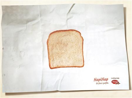 ↑ 包装紙の中央にHapiHapの実物大の写真。基本はこれだけ