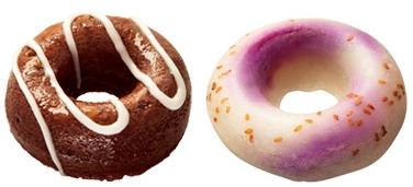 ↑ ひんやり焼きドのデザートチョコ(左)ともちもち紫いも(右)