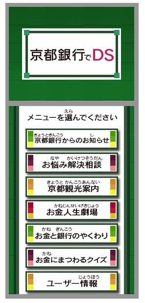 ↑ 「京都銀行でDS」メイン画面