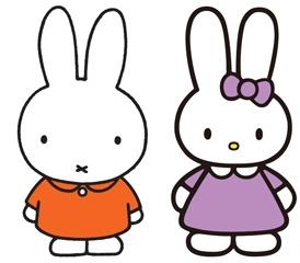 ↑ ミッフィー(左)とキャシー(右)