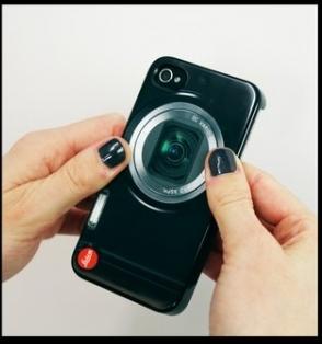 ↑ Leica V-Lux 20を模したiPhoneカバー