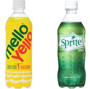 ↑ メローイエロー(左)とスプライト(右)