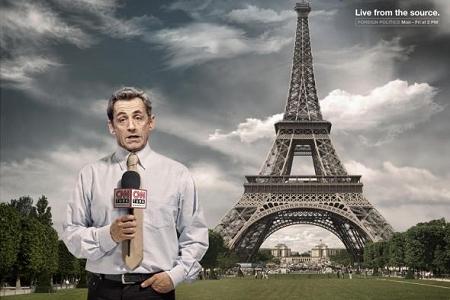 ↑ フランスのエッフェル塔からの中継だけど……?