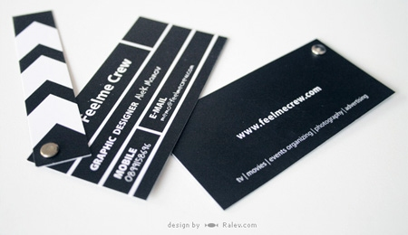 ↑ Clapperboard Business Card