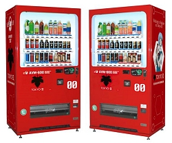 ヱヴァンゲリヲンのキャラクターデザイン入り自動販売機