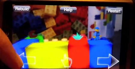↑ LEGO Platformer game - Mobile Augmented Reality。