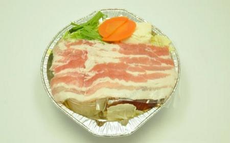 ↑ そばつゆで食べる 豚しゃぶ鍋