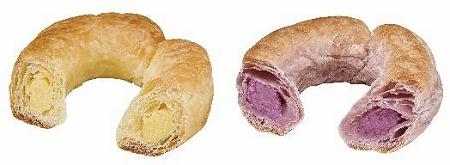 ↑ リングパイ(クリーム・左と紫芋・右)