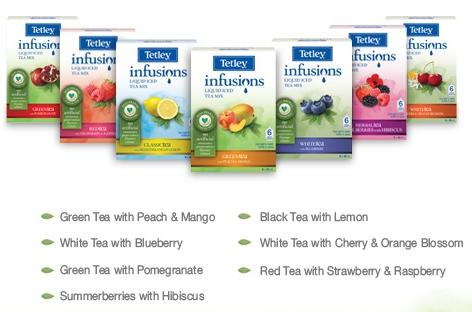 ↑ 緑茶に桃とマンゴー、黒茶にレモン……?