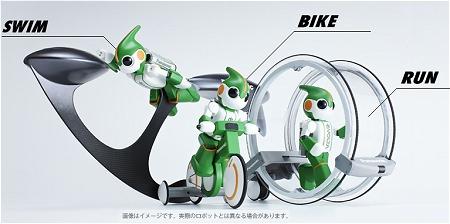↑ チャレンジするロボット3種類