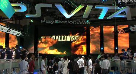 ↑ 新機種のPS Vita発表にも人だかりが。