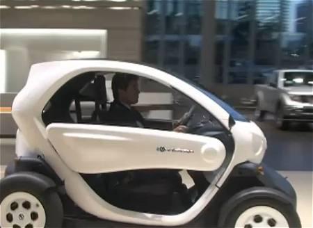 ↑ 去年に開催された「ゼロ・エミッション社会に向けた取組」報道向説明会においてお披露目されたNISSAN new mobility CONCEPT。