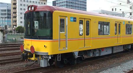 ↑ 東京メトロ1000系1101F甲種輸送 沼津。