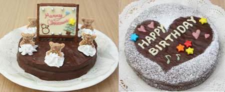 ↑ 提案一例。色々飾ってデコレーションケーキにしたり、バースデーケーキにしたり……