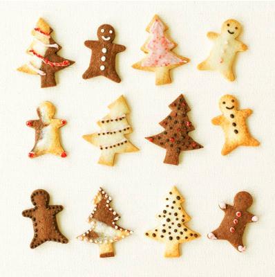 ↑ 自分でつくる クリスマス型抜きクッキー。