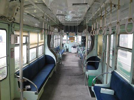 ↑ 出品されている路面電車「23-25 熊交 二軸ボギー連接電動客車(5015号)」