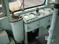 運転席部分……23-25 熊交 二軸ボギー連接電動客車(5015号)