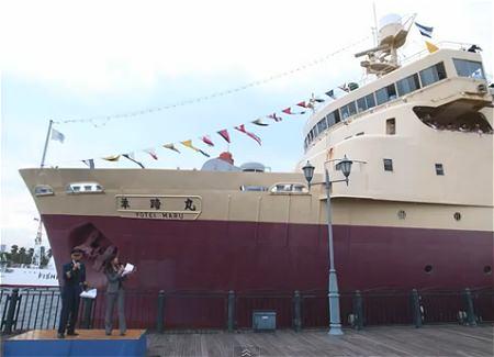 ↑ 「船の科学館・羊蹄丸」の公開展示最終日を伝えるスライドショー的映像。