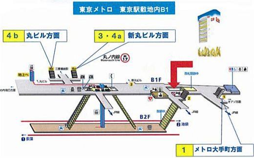 ↑ 東京メトロ東京駅のバナナ自販機配置場所