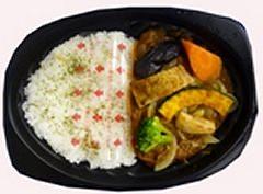 ↑ 5種の野菜カレー