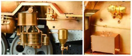 ↑ 真鍮主体のディテール・パーツは細部までこだわりを見せる
