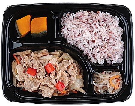 ↑ 豚肉と野菜のさっぱり炒め弁当