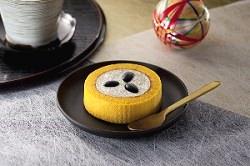 プレミアム丹波黒豆と芋栗のロールケーキ